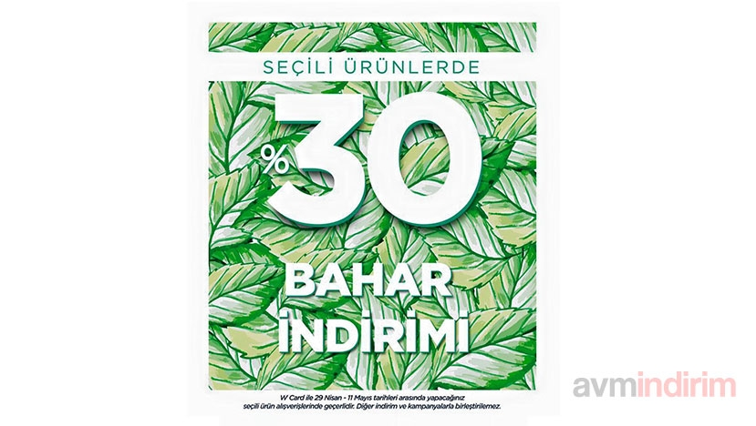 w collection bahar indirimi