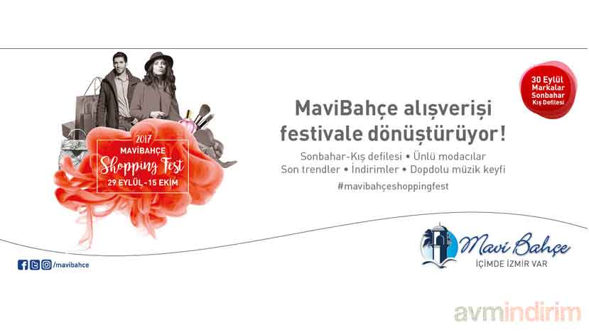 mavibahce shopping fest 2017