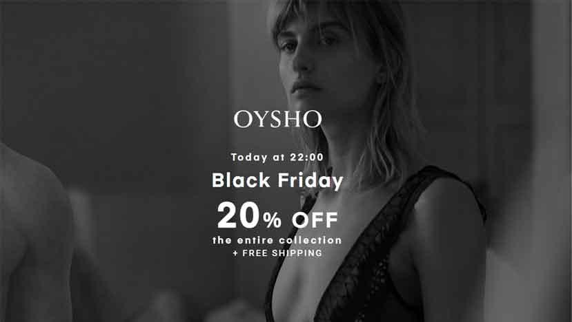 oysho black friday