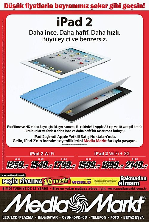 media markt 39 ta b y leyici ve benzersiz ipad 2 f rsat. Black Bedroom Furniture Sets. Home Design Ideas